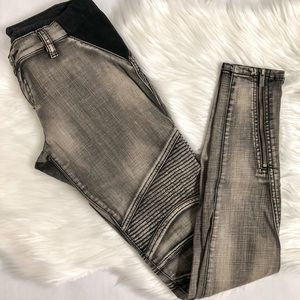 Grey Moto Style Jeans